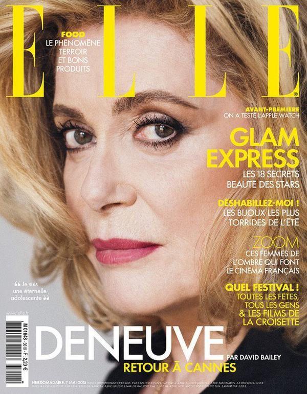 Catherine Deneuve en Une du nouveau numéro de ELLE.