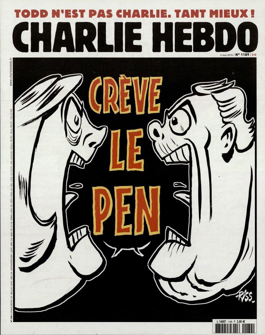 &quot&#x3B;Crève Le Pen&quot&#x3B; en Une de Charlie Hebdo ce mercredi.