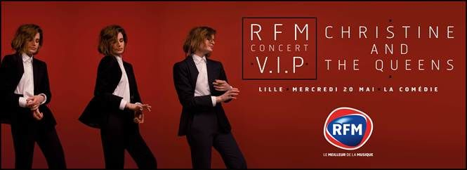 Concerts V.I.P. RFM avec Christine and The Queens et M. Pokora.