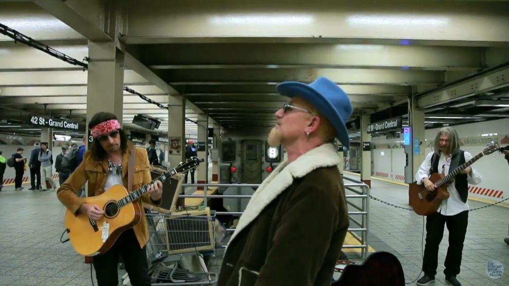 Quand U2 joue incognito dans le métro (Vidéo Jimmy Fallon).