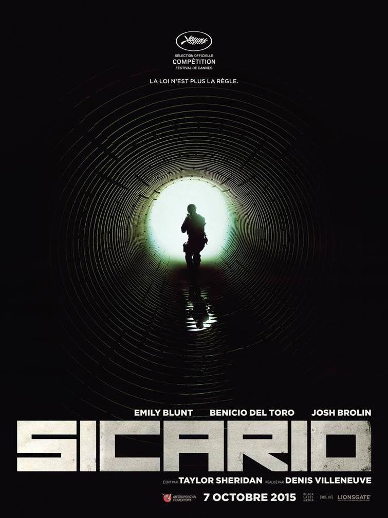 L'affiche teaser du film Sicario, de Denis Villeneuve.