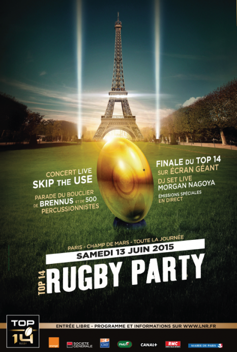 Top 14 Rugby Party ce samedi : concert gratuit de Skip The Use à Paris.