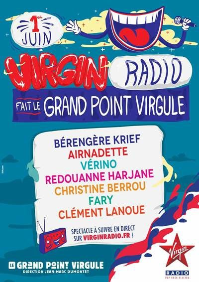 Virgin Radio fait le Grand Point Virgule : diffusion en direct.