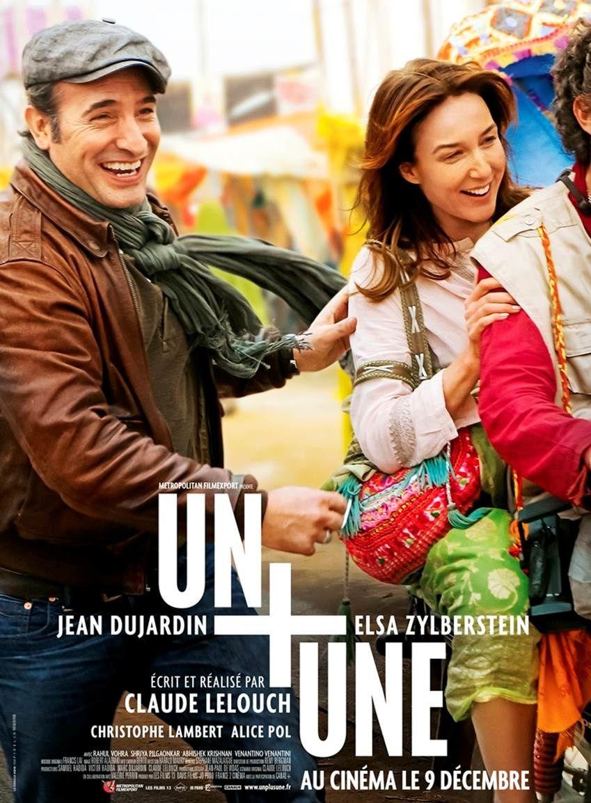 Affiche et photo du film Un + Une, avec Jean Dujardin.