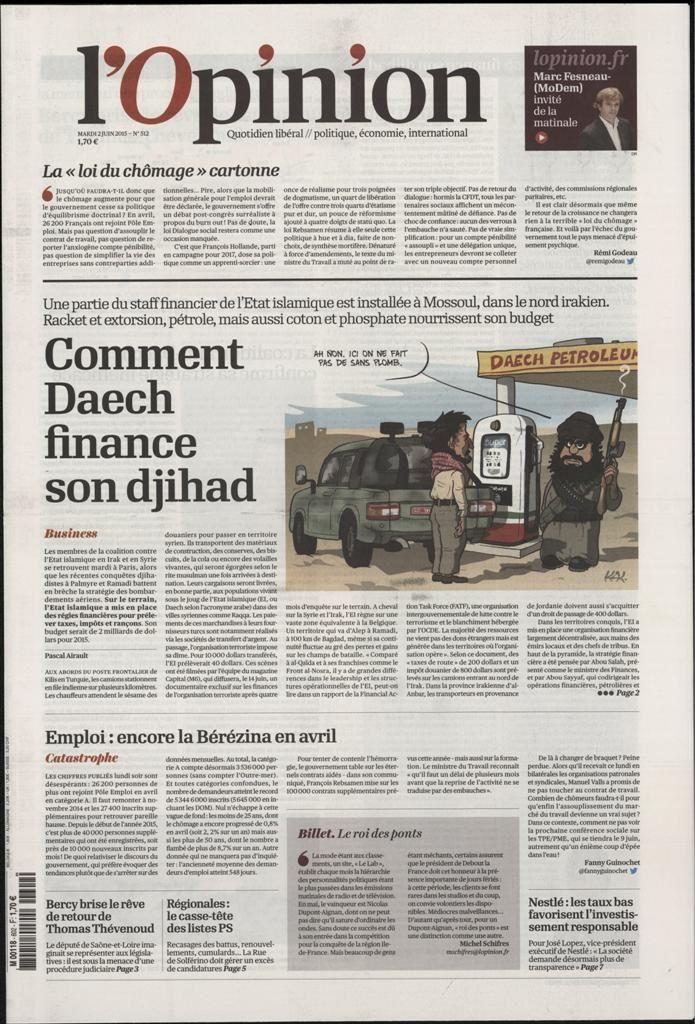 La Une de la presse quotidienne nationale ce mardi 2 juin.