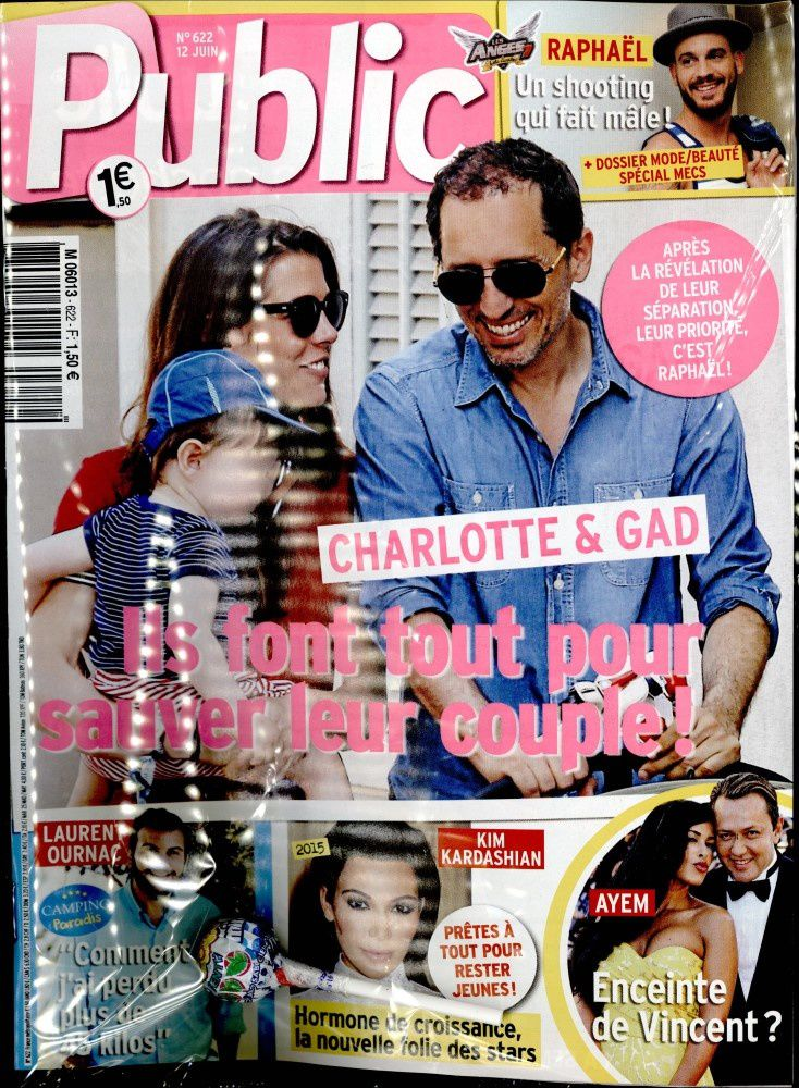 La Une de la presse people ce vendredi : Jenifer, Marie Drucker, Gad Elmaleh.