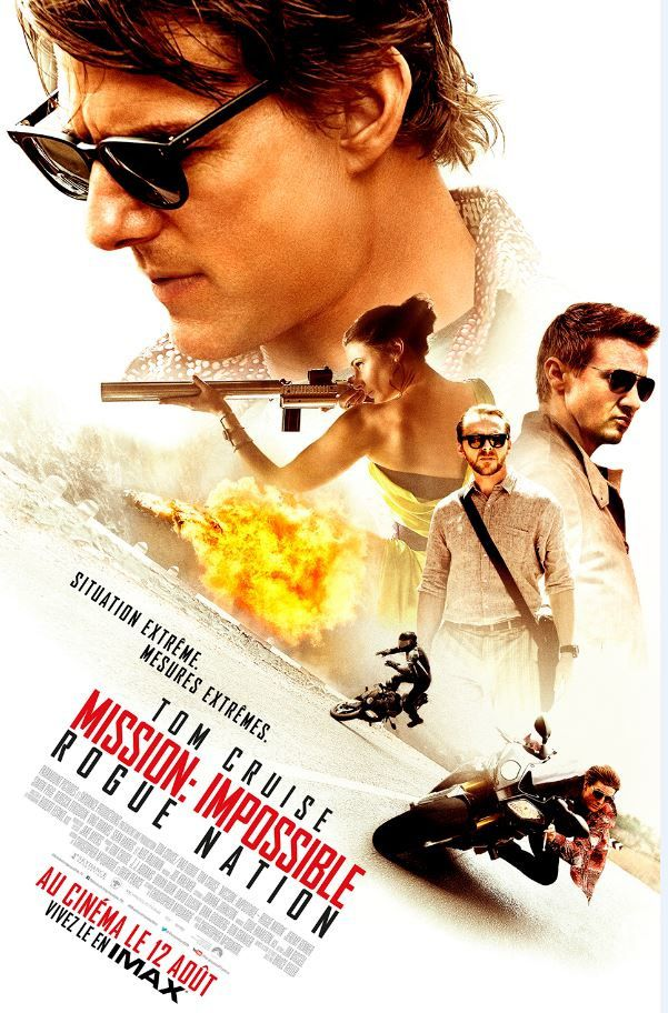 L'affiche française du film Mission impossible : Rogue Nation.