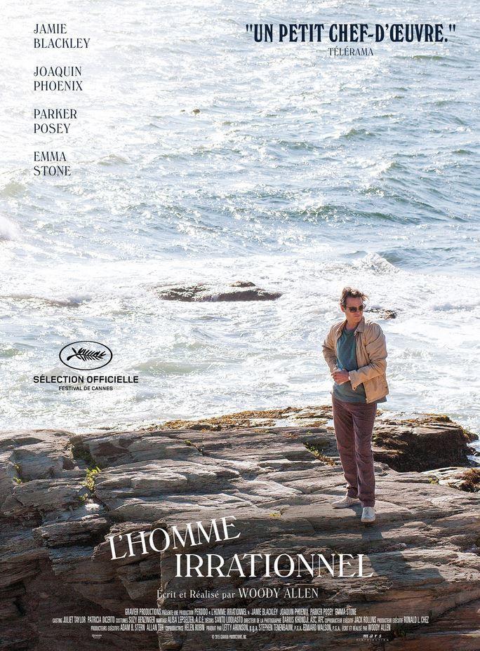 L'affiche du nouveau film de Woody Allen, L'homme irrationnel.