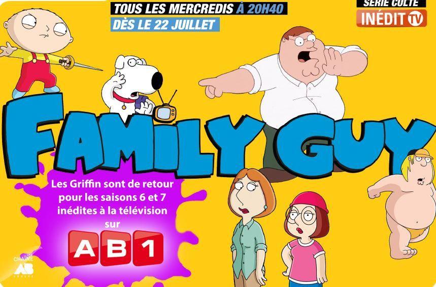 Family Guy : saisons 6 et 7 dès le 22 juillet sur AB1.