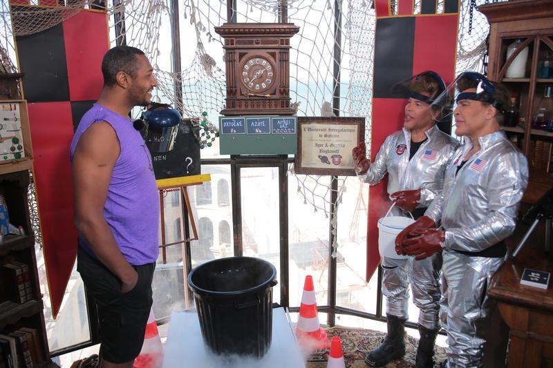 Fort Boyard avec Tony Parker, Batum et Diaw ce 25 juillet : photos du tournage.
