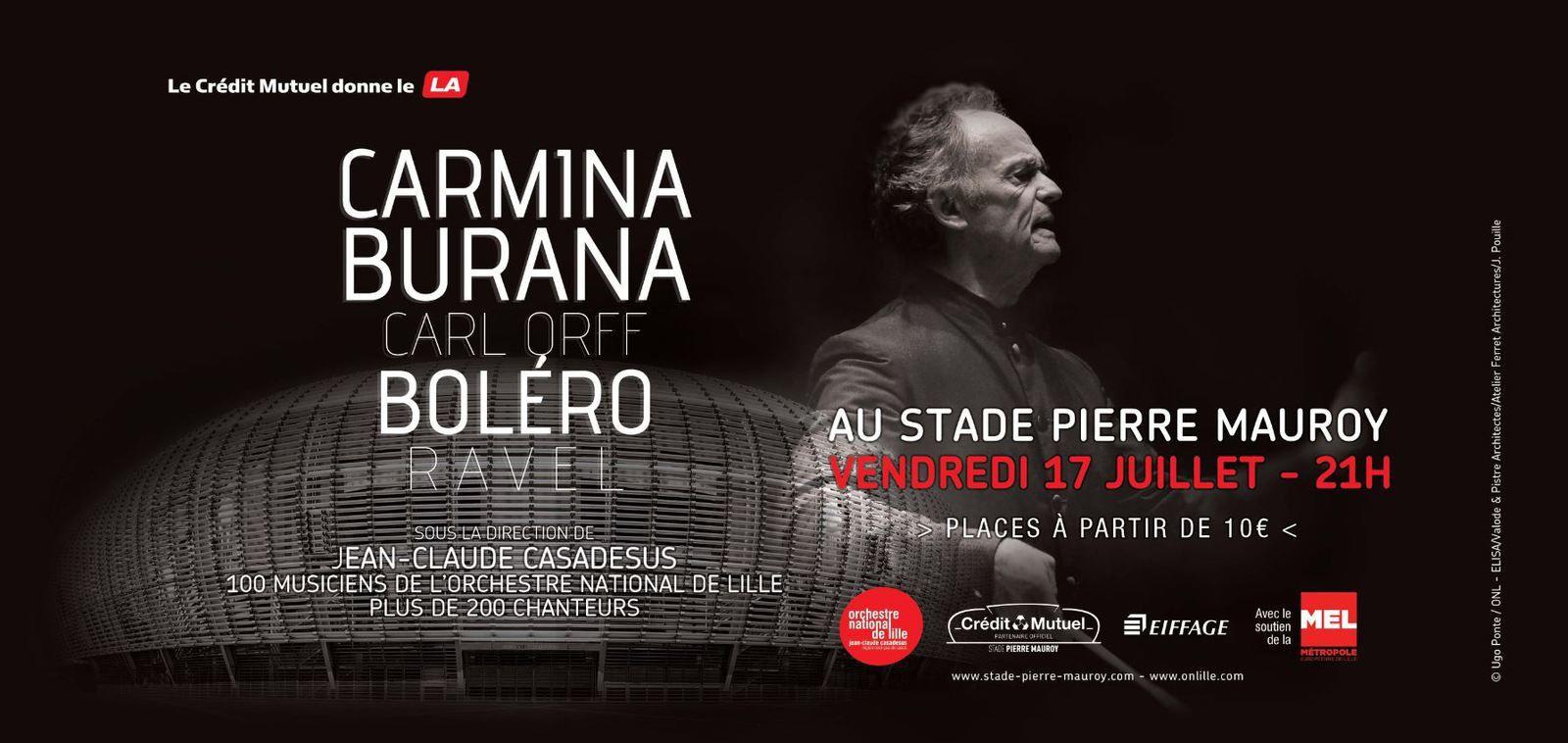 Carmina Burana et Boléro au stade de Lille : en direct sur le net.