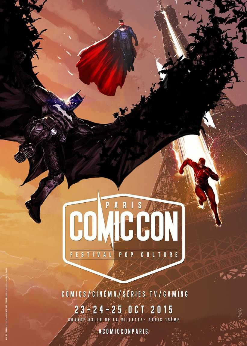 Comic Con Paris : l'affiche officielle du festival (par Ronan Toulhoat).