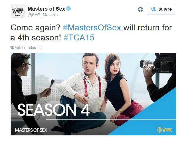 Une saison 4 pour les séries Ray Donovan et Masters of sex.