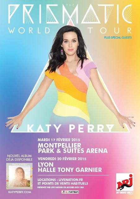 Prismatic World Tour : concert de Katy Perry diffusé le 4 septembre.
