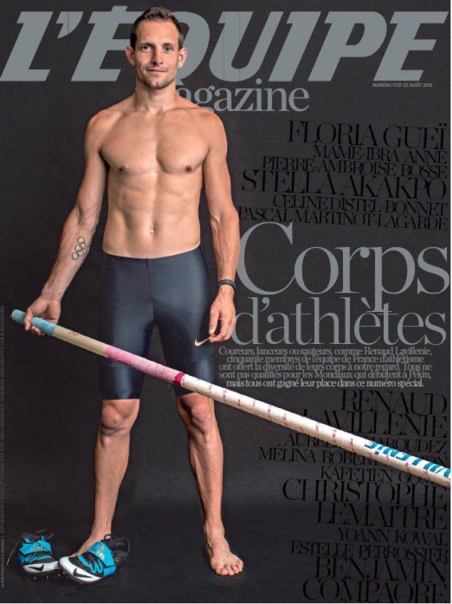 Spécial corps d'athlètes ce samedi dans L'Équipe Magazine.