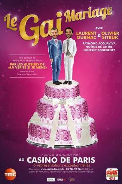 La gai mariage avec Laurent Ournac sur scène, prochainement sur TMC.