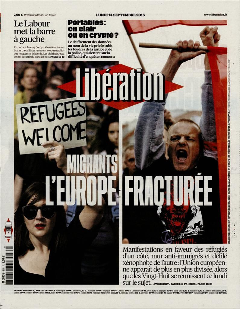 La Une de la presse quotidienne nationale ce lundi 14 septembre.
