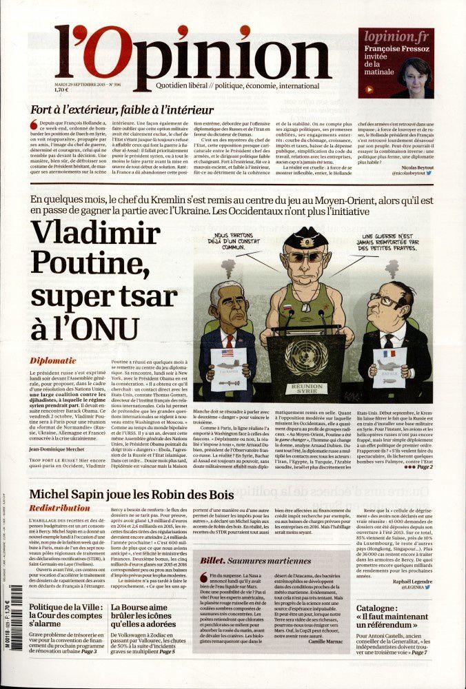La Une des quotidiens nationaux parus ce mardi 29 septembre.