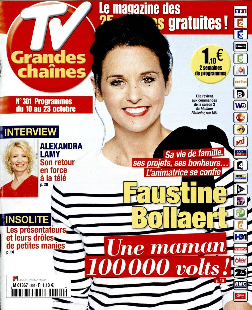 La Une des hebdos presse TV ce lundi : Faustine Bollaert, Kendji, Alexandra Lamy...