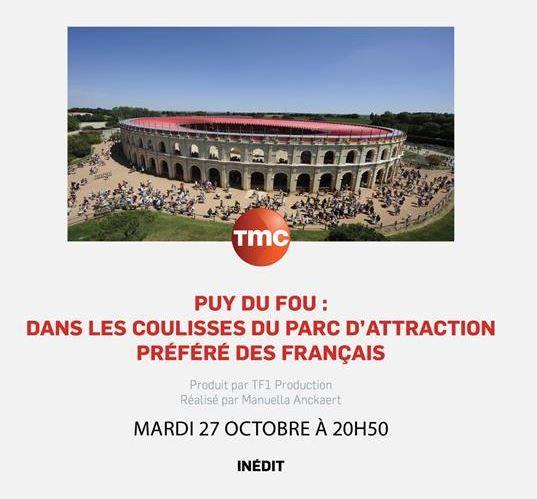 Dans les coulisses du parc Le Puy du Fou ce 27 octobre sur TMC.