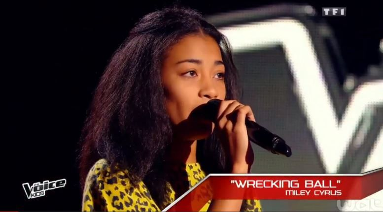 The Voice Kids : Shaina très courtisée par les coachs (Wrecking ball).