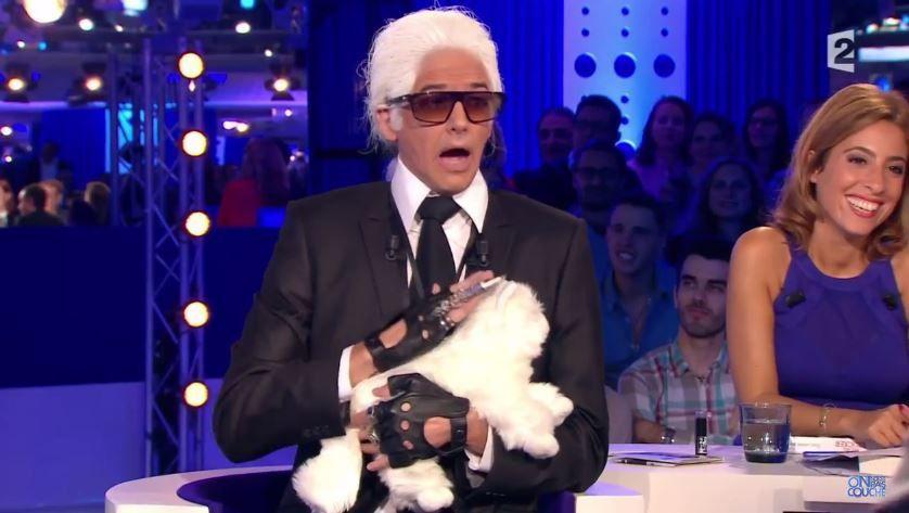 Marc-Antoine Le Bret dans la peau de Karl Lagerfeld pour ONPC (vidéo)