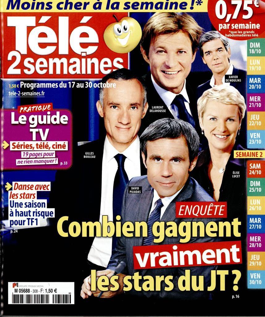 La Une de la presse TV ce lundi : Nagui, PBLV, Cristina Cordula...