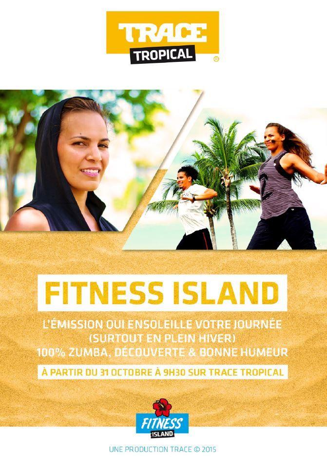 Zumba sur Trace Tropical avec la nouveauté Fitness Island.