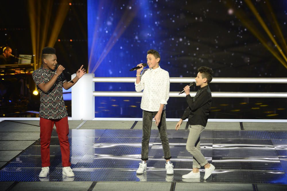 The Voice Kids : Lisandro, Medhi et Ferhat reprennent My girl (Vidéo).