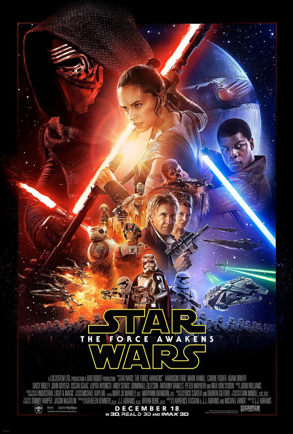 Voici l'affiche du film Star Wars : The Force Awakens.
