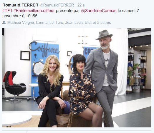 Le meilleur coiffeur dès le 7 novembre après-midi sur TF1.