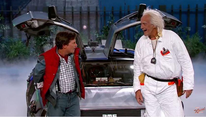 Marty McFly et Doc Brown rendent visite à Jimmy Kimmel (Vidéo)