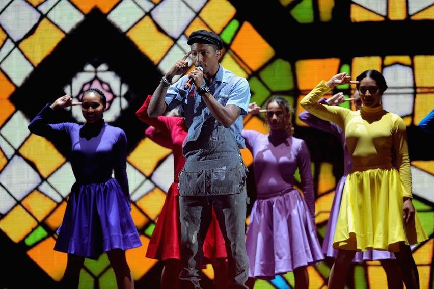 La performance de Pharrell Williams hier aux MTV EMA (Freedom).