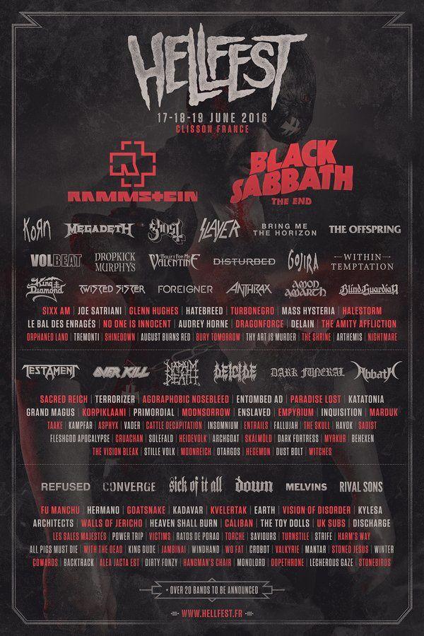 La programmation du Hellfest 2016 : Rammstein, Black Sabbath, Korn...