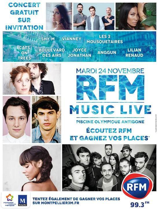 RFM Music Live à Montpellier avec Shy'm, Anggun, Vianney...