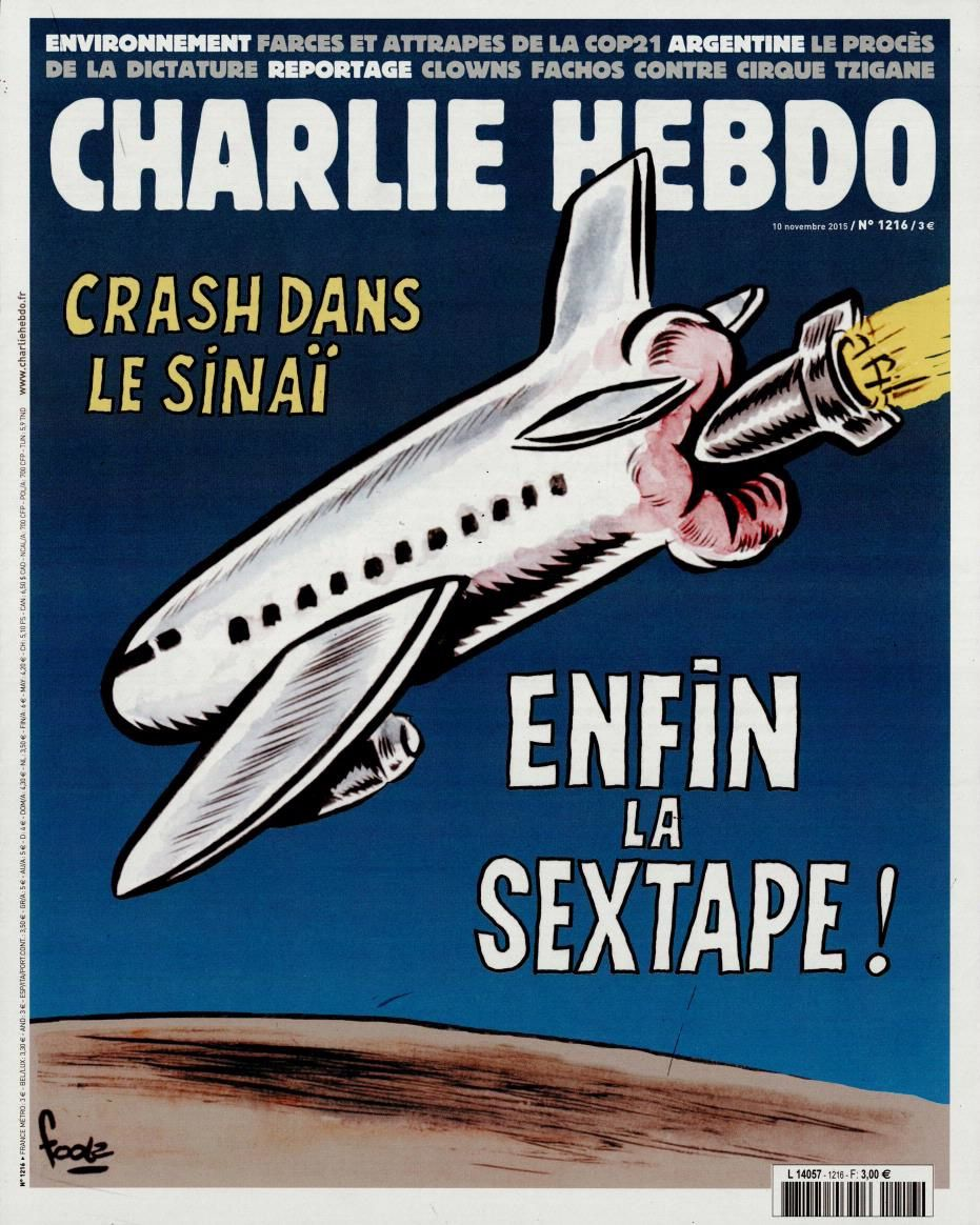 La Une de Charlie Hebdo cette semaine.