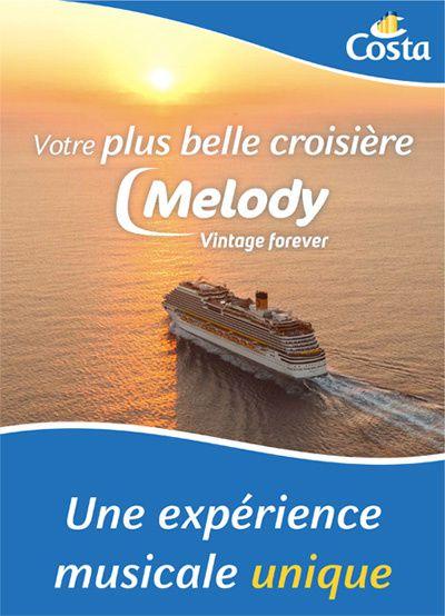 En juin, 2ème édition de la croisière Melody, avec des artistes.