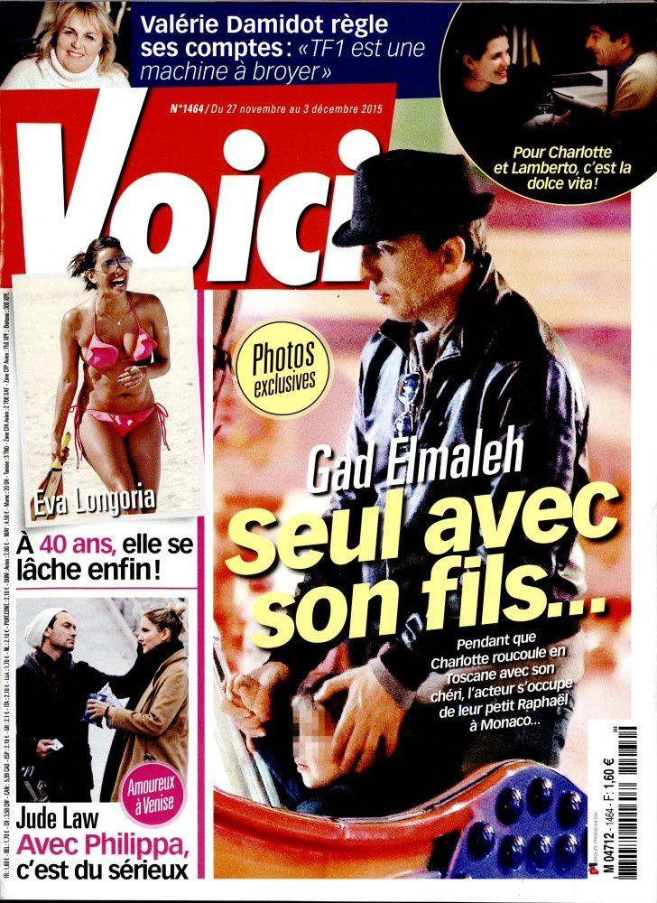 La Une de la presse people ce vendredi: Vanessa Paradis, Gad Elmaleh...