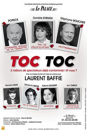 Retour de la pièce Toc Toc, de Baffie, avec Popeck et Danièle Evenou.