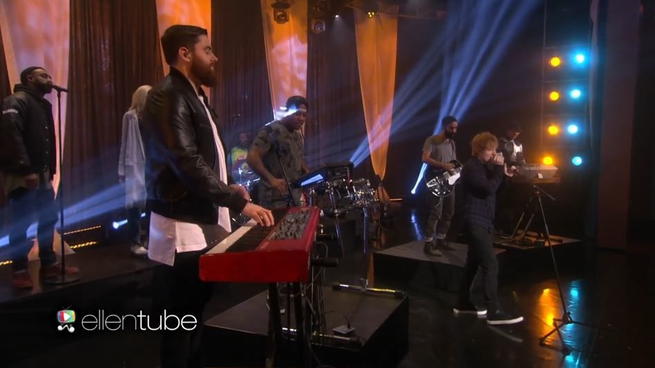 The Ellen Show : Ed Sheeran &amp&#x3B; Rudimental interprètent 'Lay It All on Me'.