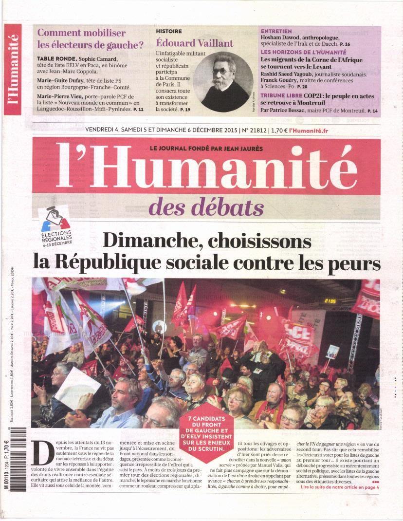 La Une de la presse quotidienne nationale ce 4 décembre.