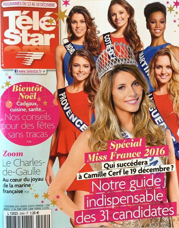La Une des hebdos de la presse TV ce lundi : Miss France, Star Wars, Véronic Dicaire...