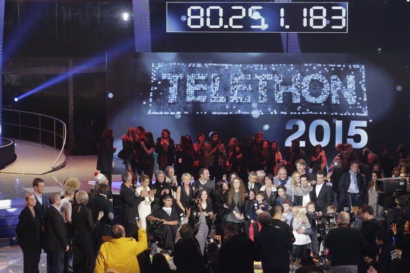 Le montant des promesses de dons du &quot&#x3B;Téléthon 2015&quot&#x3B;.