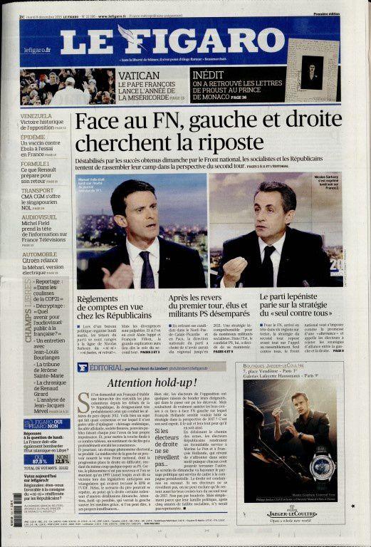 La Une de la presse quotidienne nationale ce mardi 8 décembre.