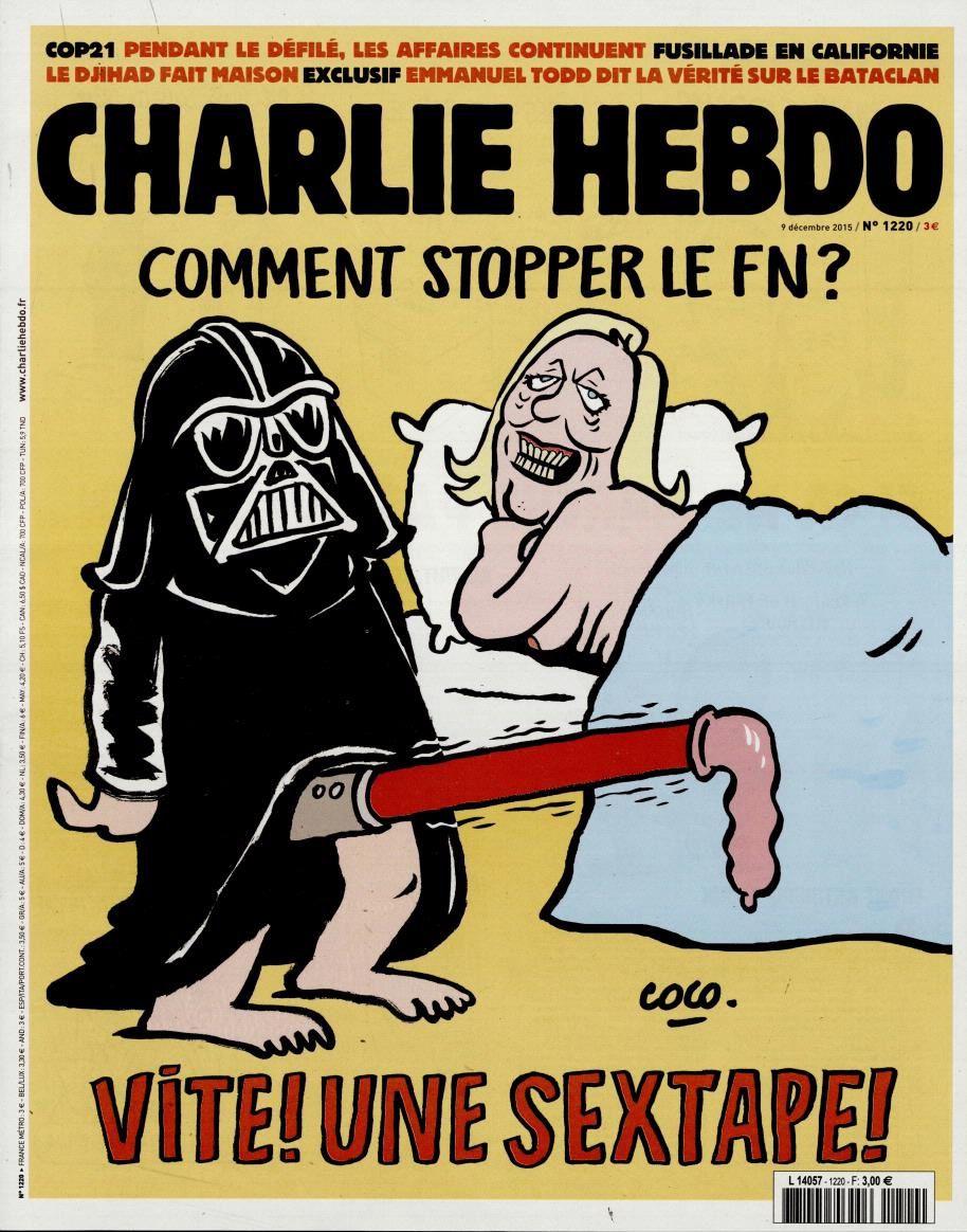 La Une de Charlie Hebdo ce mercredi : Comment stopper le FN ?