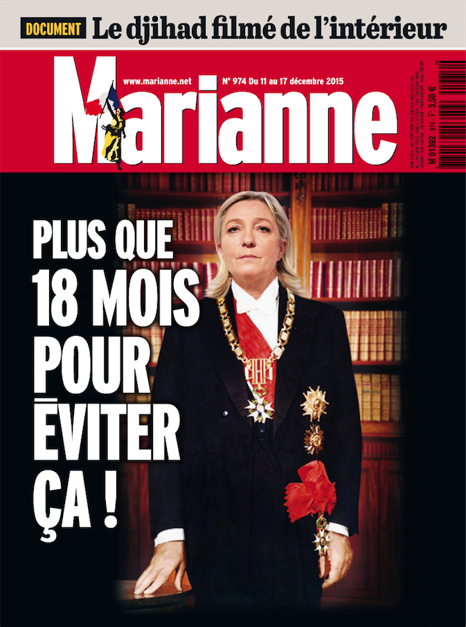 Plus que 18 mois pour éviter ça, titre Marianne vendredi.
