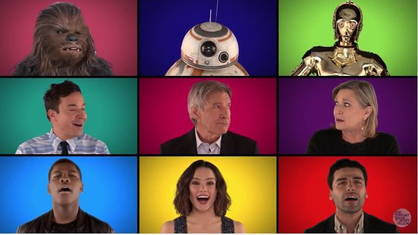 Medley Star Wars par Jimmy Fallon, The Roots et le cast.