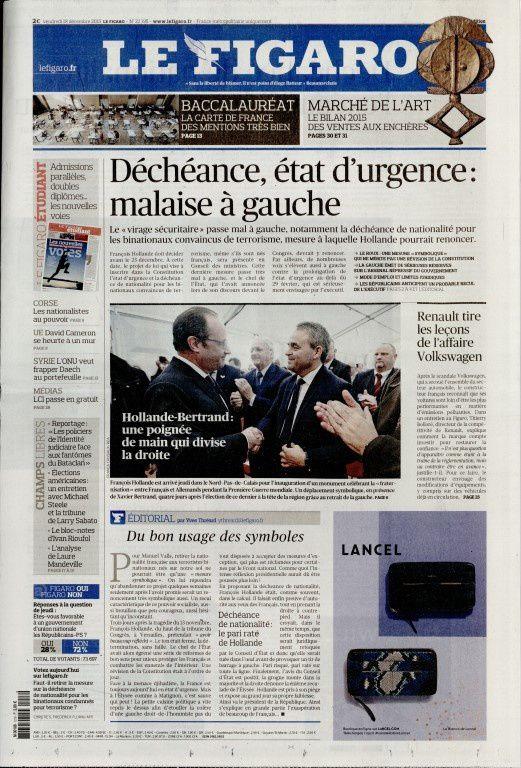 La Une de la presse quotidienne nationale ce vendredi 18 décembre.