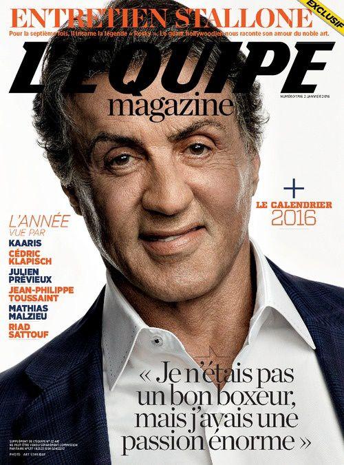 Entretien avec Stallone samedi dans L'Equipe magazine.