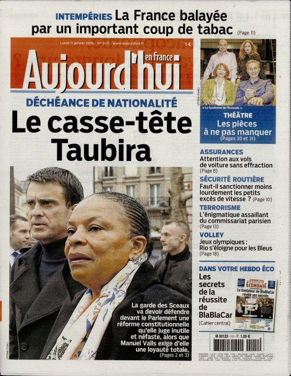 La Une de la presse quotidienne nationale ce lundi 11 janvier.